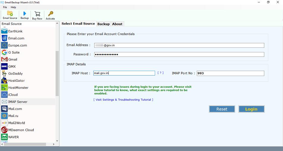 Gov.in Email Backup Software