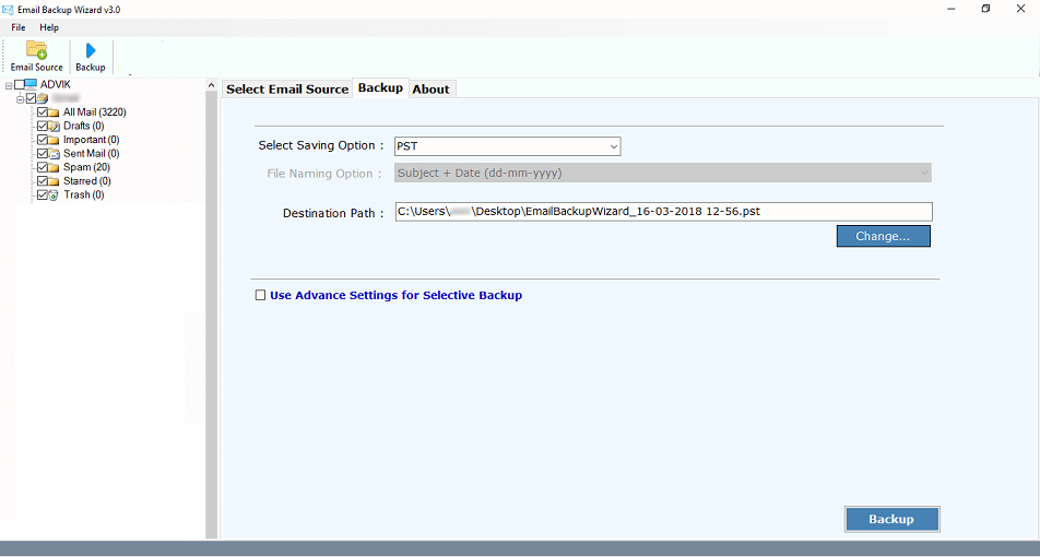 @gov.in Email Backup