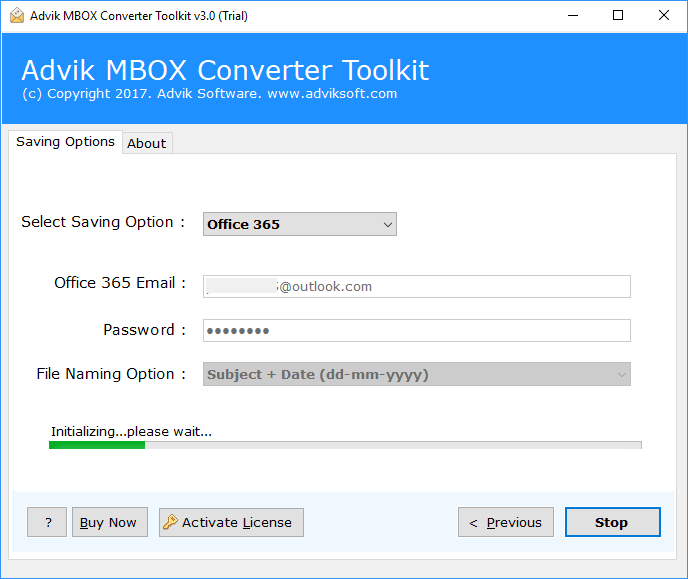 mbox to office 365 migration