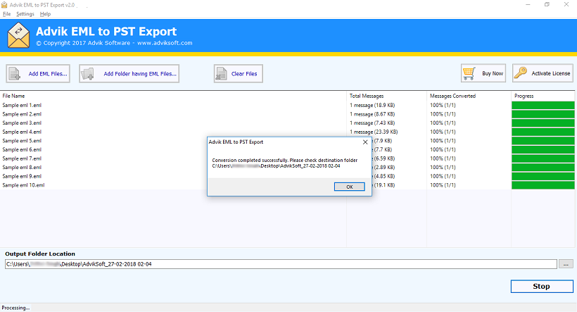 import em client emails to spt