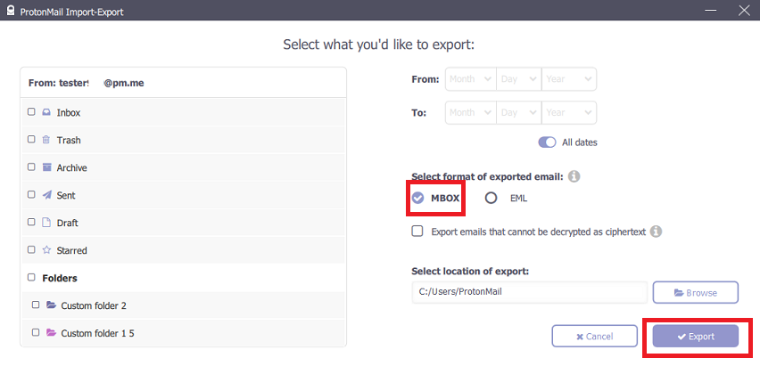 Transfer ProtonMail emails to Gmail