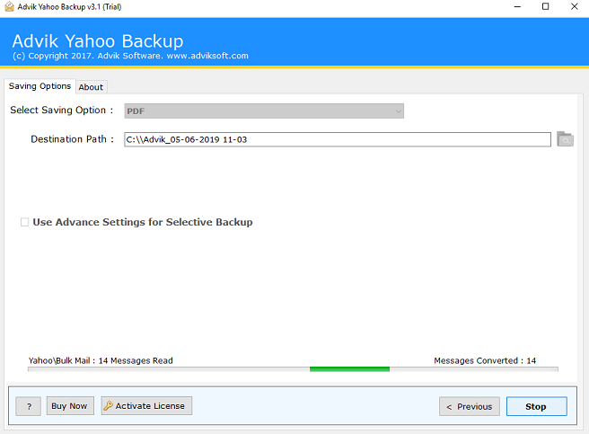how to export yahoo mail to pdf in batch