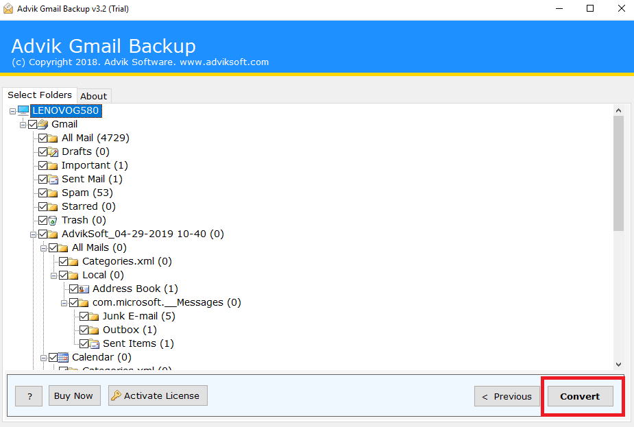 export multiple gmail emails to eml files