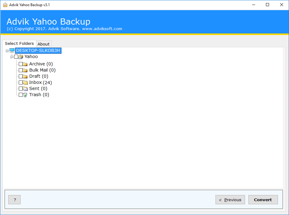 export yahoo mail folders to another yahoo account