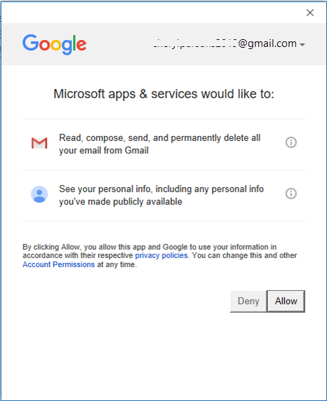 setup gmail in outlook 2019