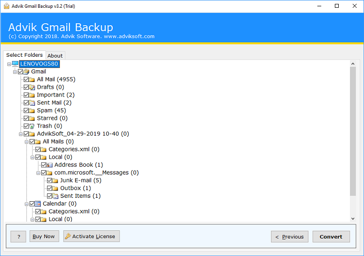 export gmail emails to outlook 2019