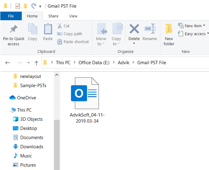 gmail export to pst