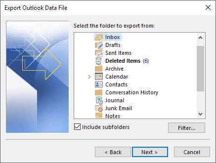 outlook emails to excel