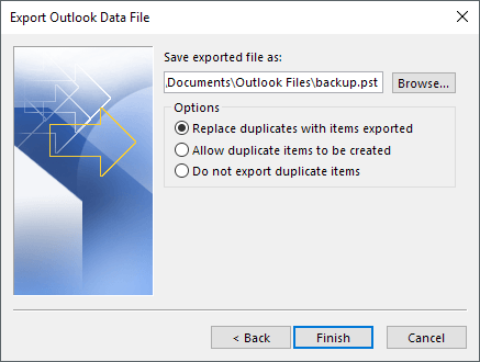 export outlook emails to csv