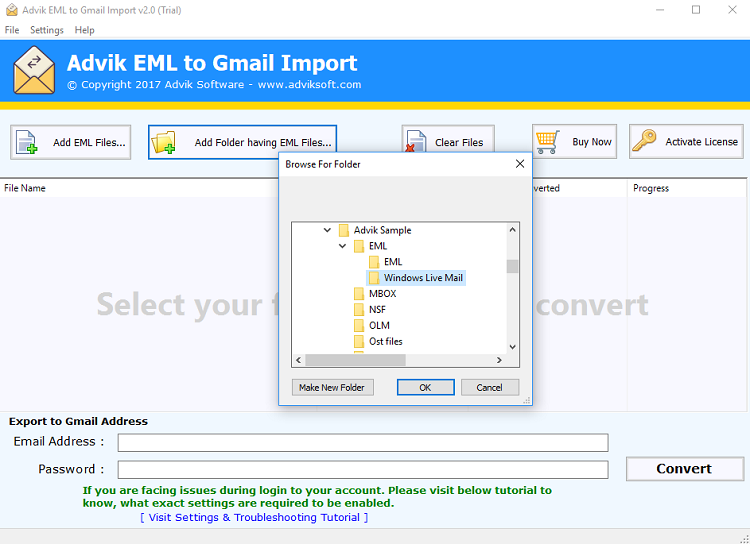 import windows live mail to gmail