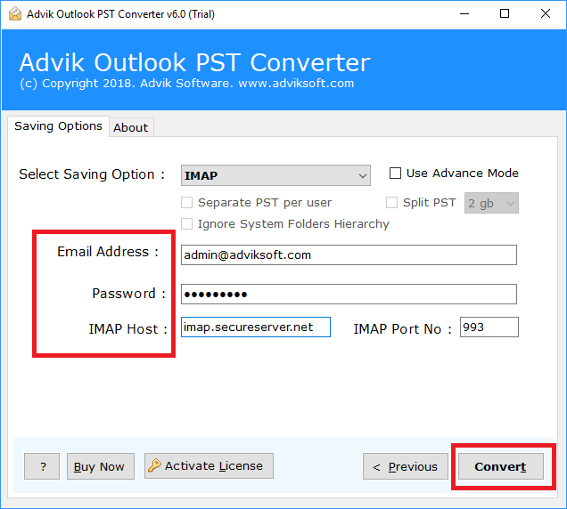 export outlook emails to cpanel