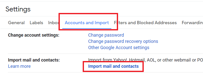 copy emails from one gmail account to another