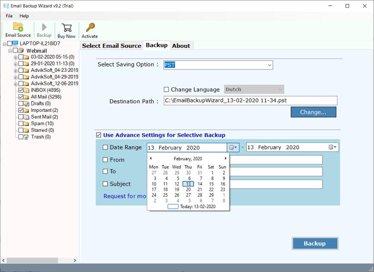 webmail backup tool
