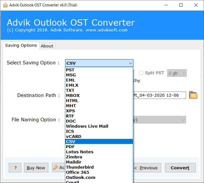 extract contacts from ost file