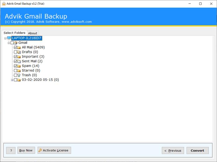 export gmail to thunderbird