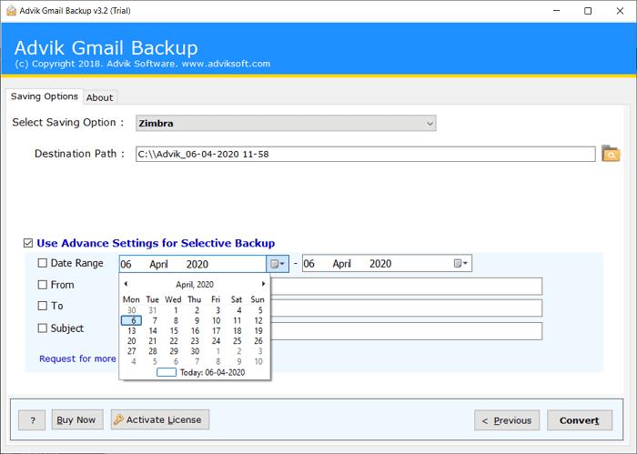 google mail to zimbra transfer