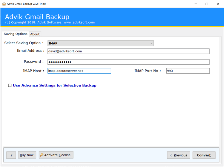 export gmail to webmail