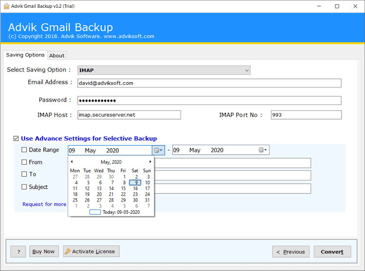 import gmail to webmail