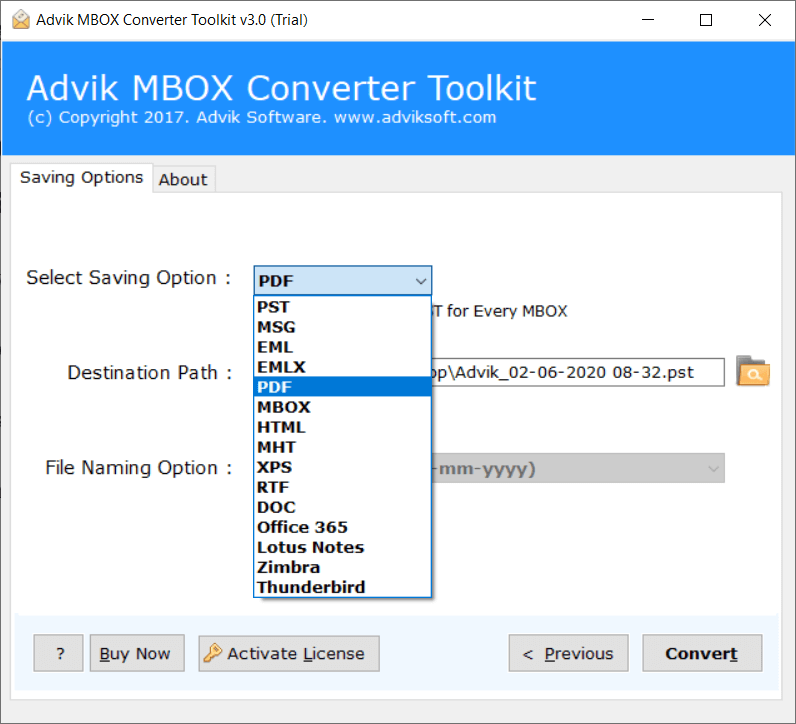 convert gmail archive