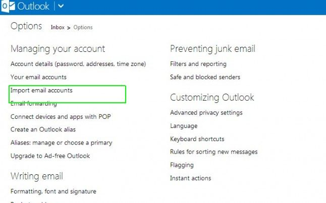 migrate gmail to outlook.com