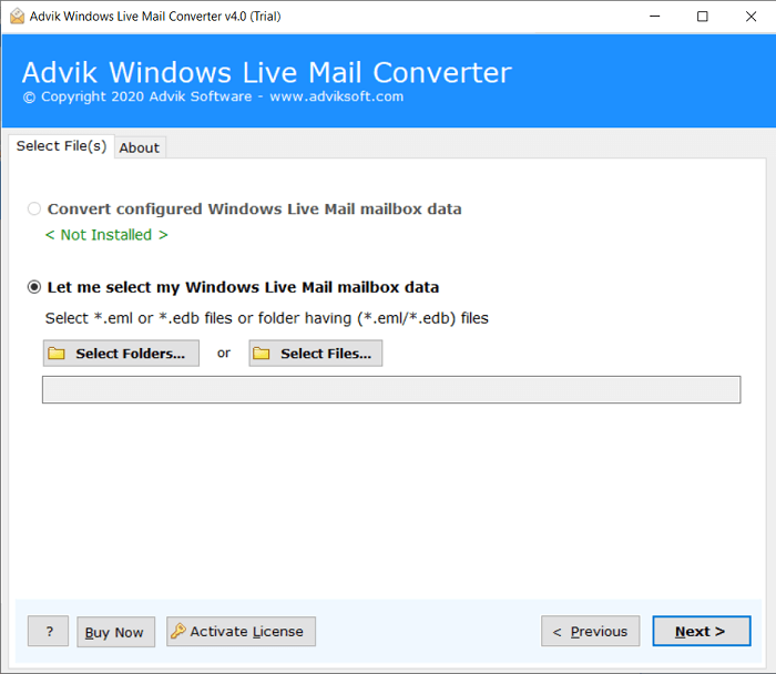 import windows live mail to outlook 2019