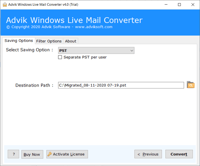 windows live mail to outlook transfer