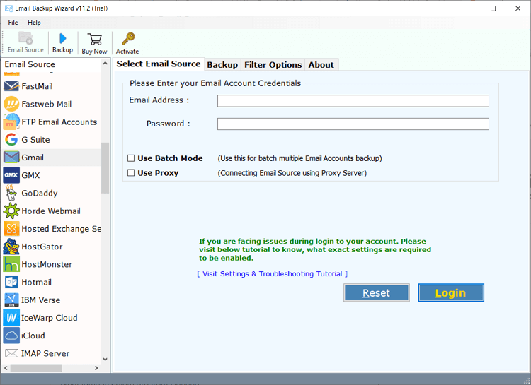 backup multiple gmail accounts