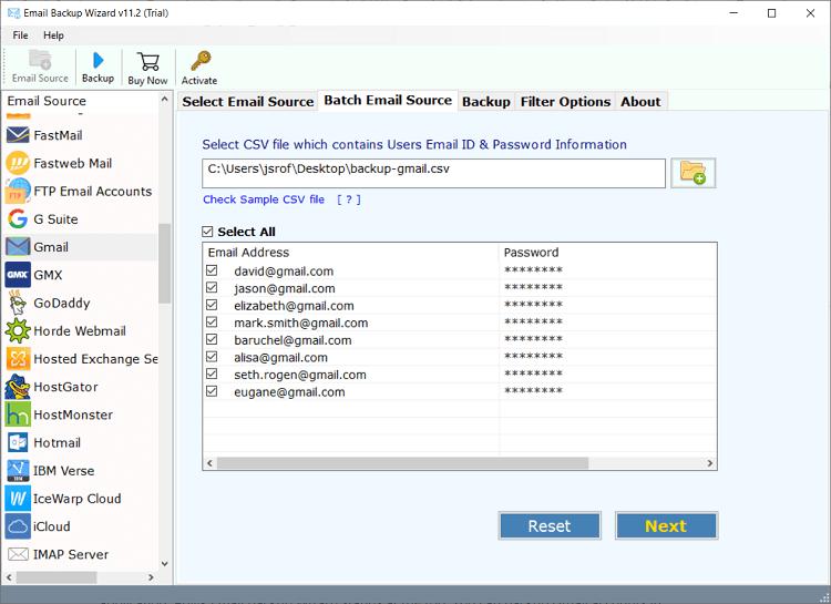 backup gmail in batch