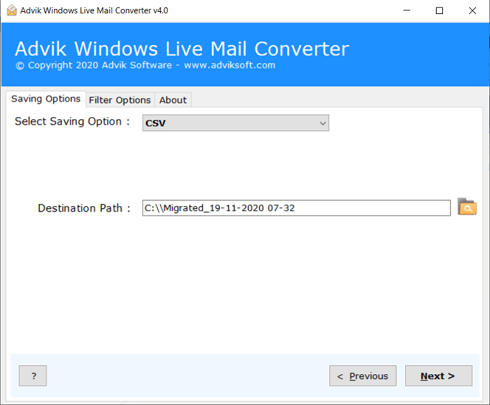 export windows live mail emails to excel