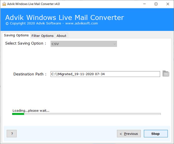 convert windows live mail to csv