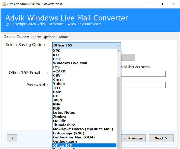 import windows live mail to office 365