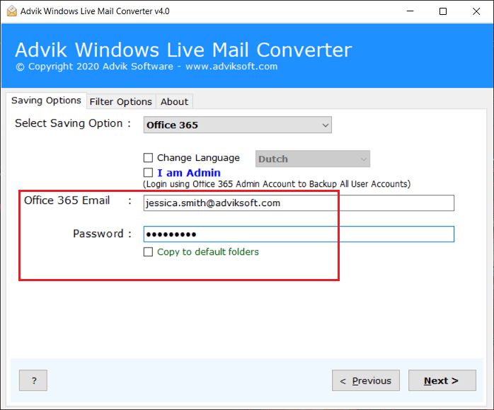 windows live mail to office 365 migration tool