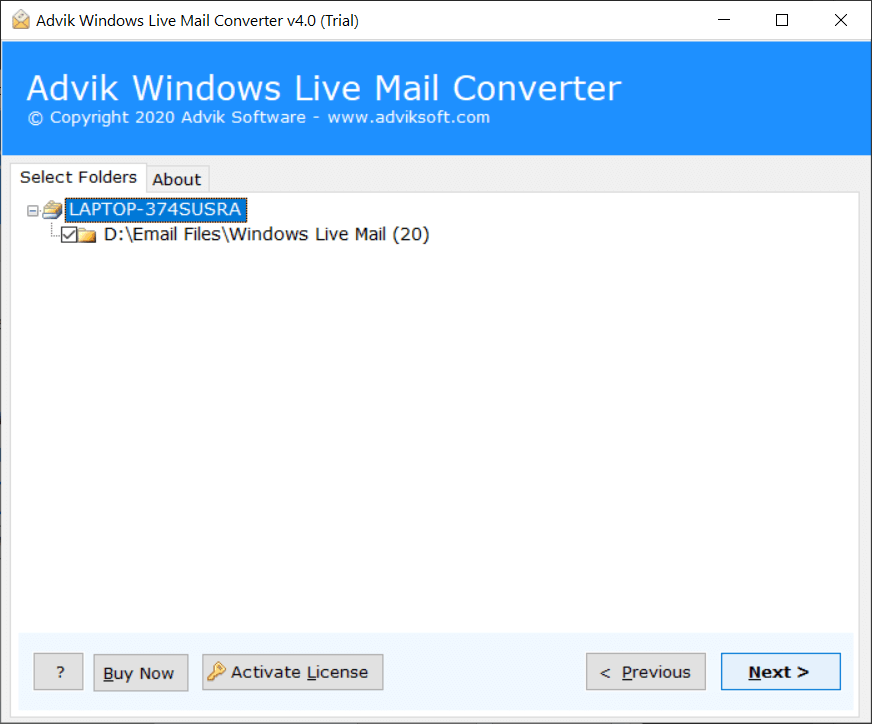 windows live mail data to hosted exchange