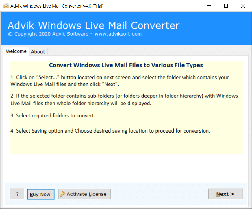 windows live mail to hosted exchange