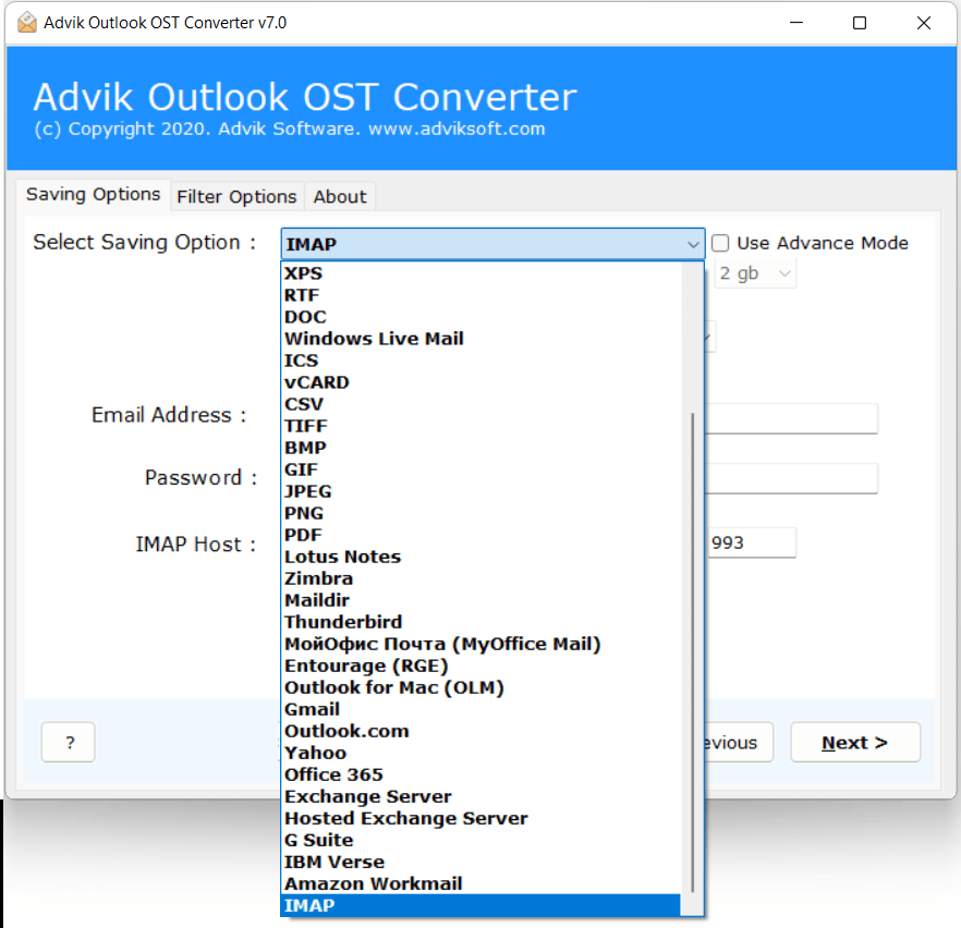 OST to web email