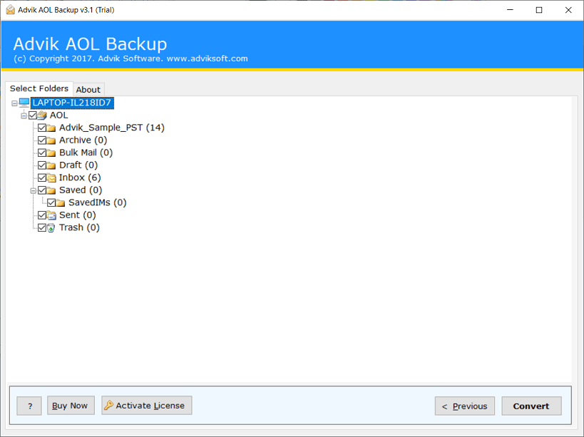 transfer aol emails to hard drive