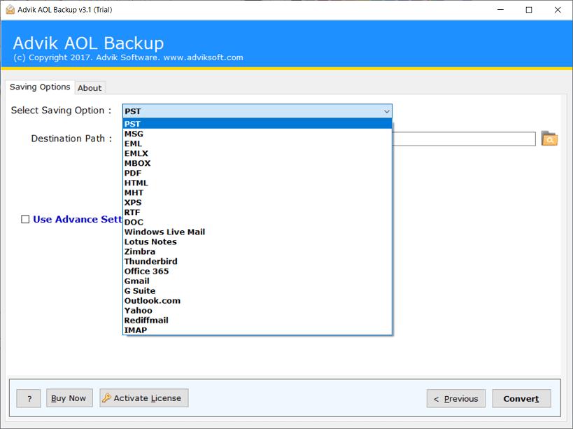 backup aol mail to hard drive