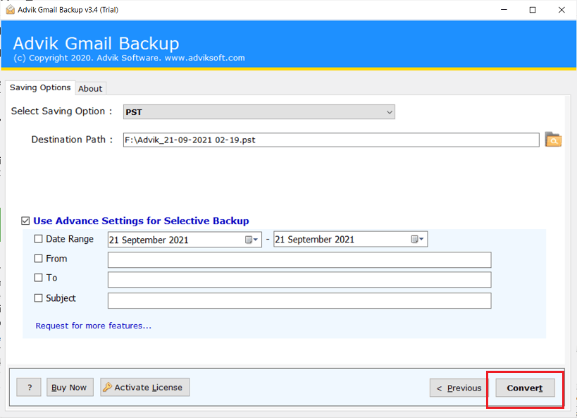 save gmail emails to external hard drive