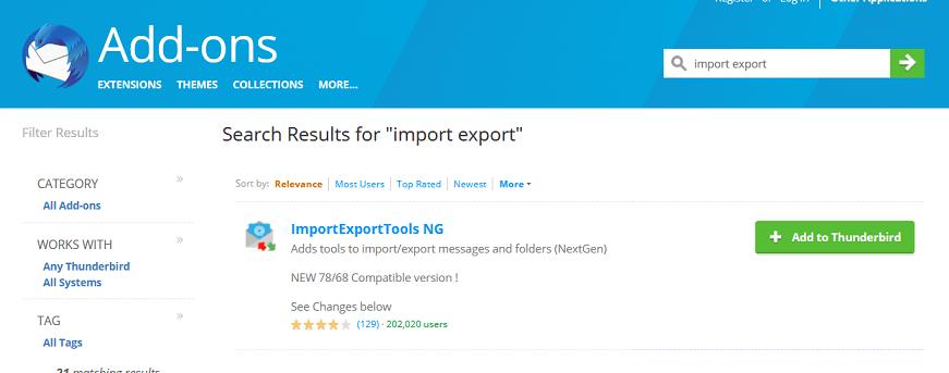 add import/export plugin
