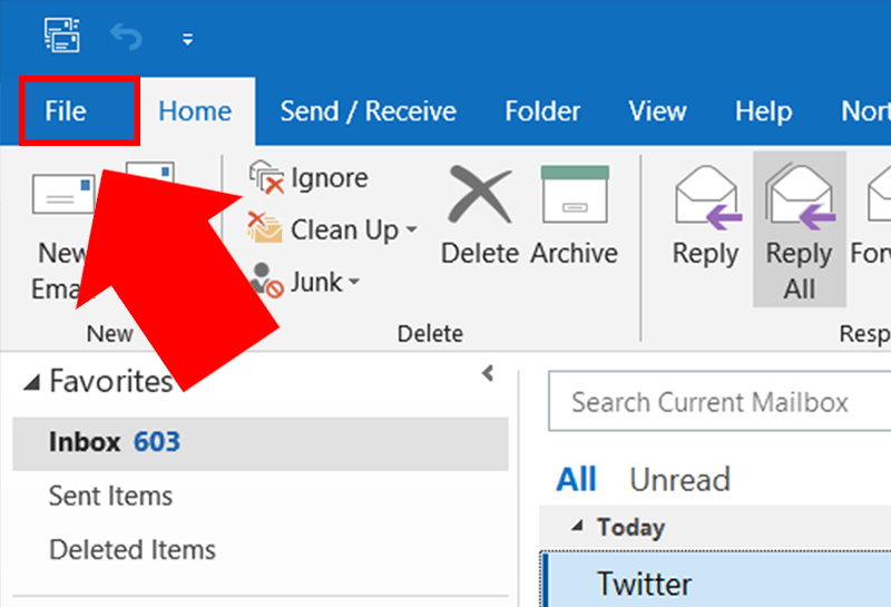 Outlook Not Displaying Emails Older Than 12 Months -1