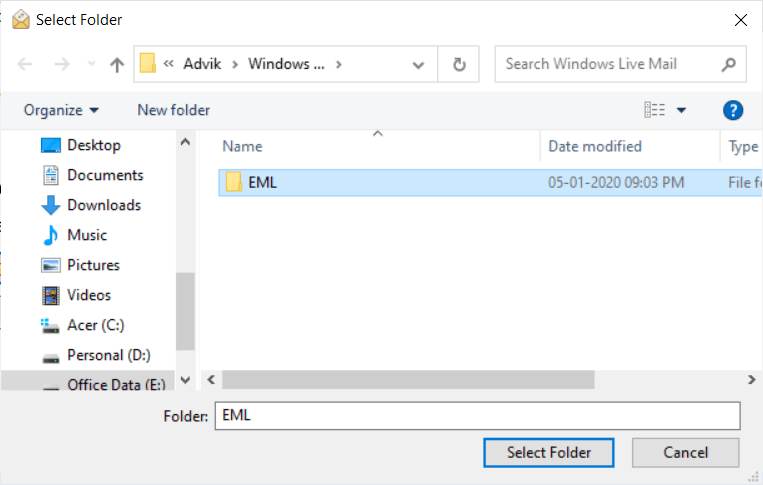 import windows live mail to outlook.com