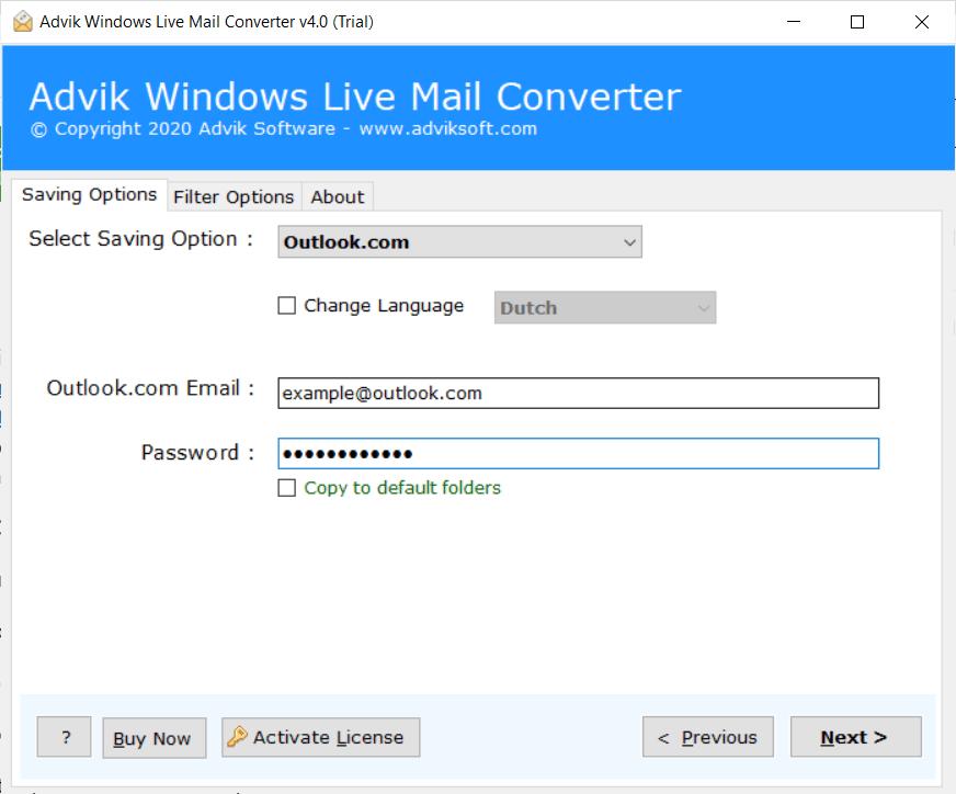 windows live mail folder to outlook.com migration