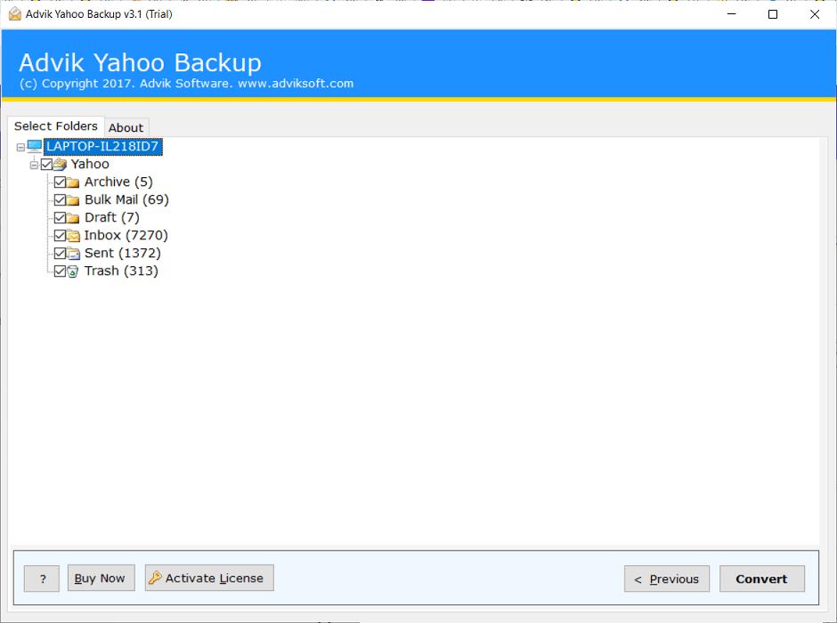 backup yahoo mail to hard drive