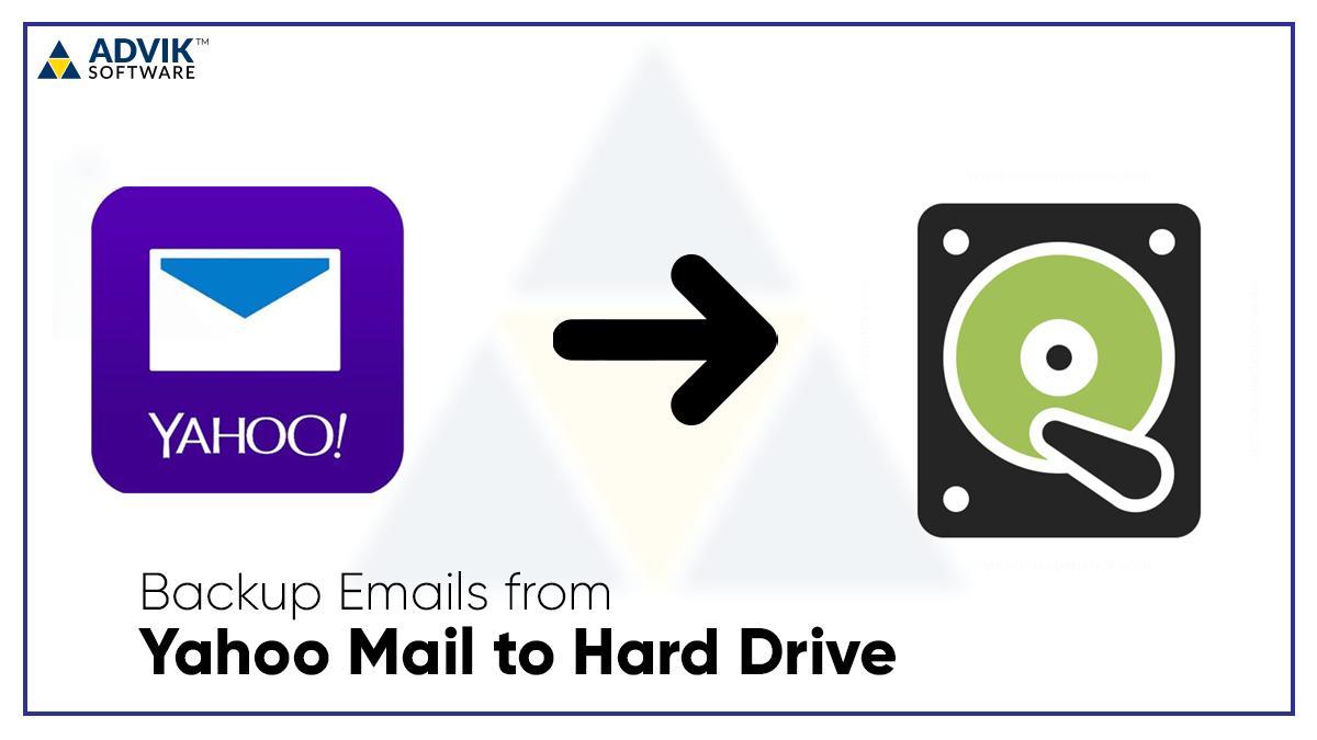 how to backup yahoo mail to hard drive