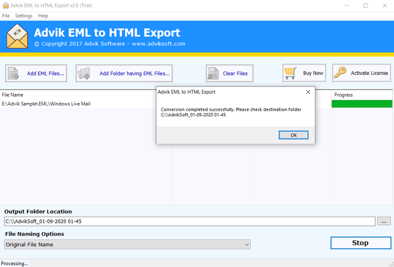 convert an email to html