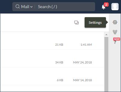 zoho IMAP settings