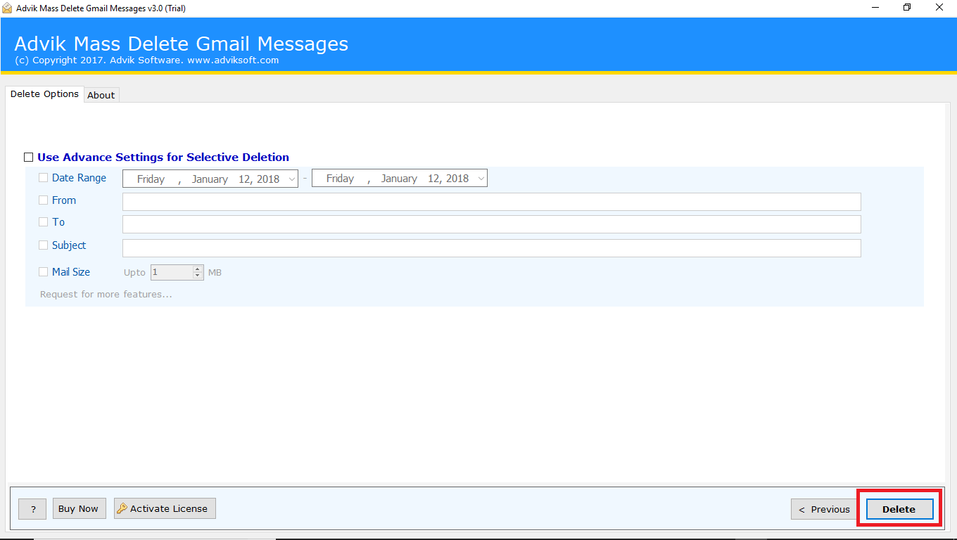 delete gmail emails in bulk