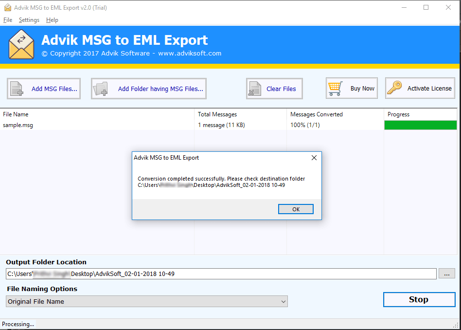 msg to eml converter free