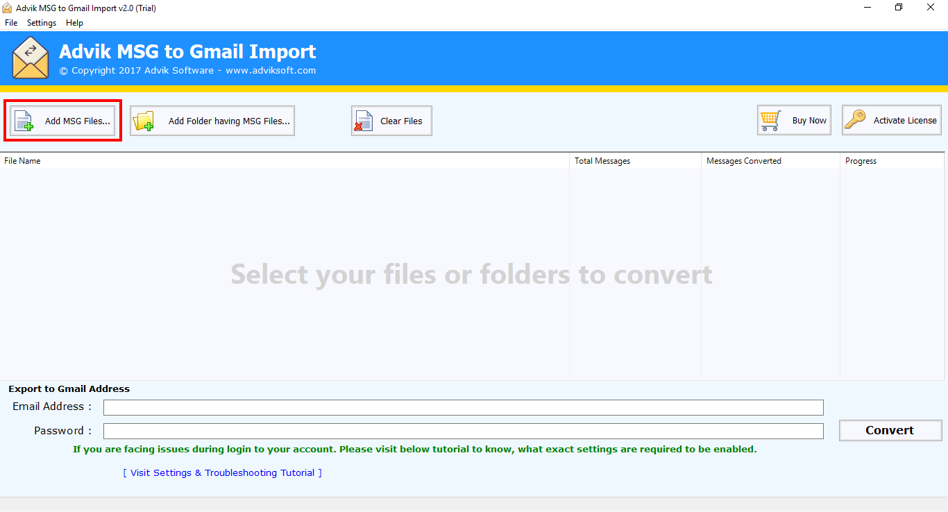 msg to gmail converter