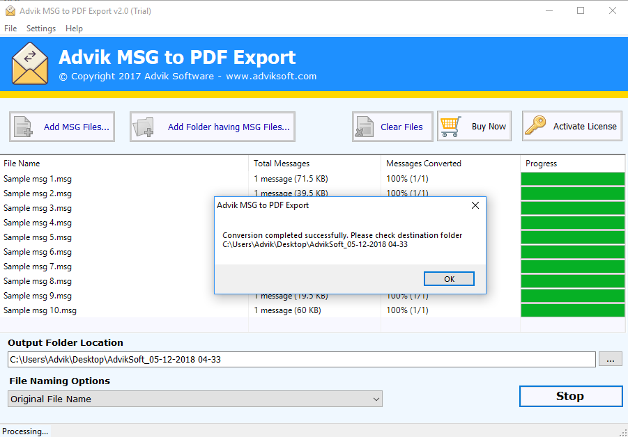 MSG to PDF Converter - Batch Convert MSG to PDF With Attachments